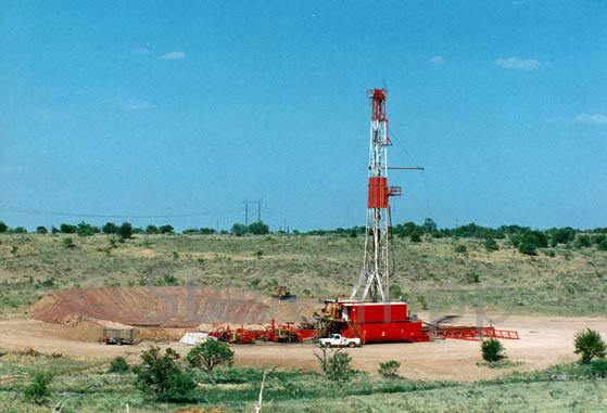 Oil drilling rig at McKnight Ranch